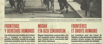 Visite en euskara de l\exposition \Mugazabaldu, frontières et droits humains\ Hendaye