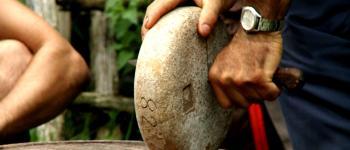 Démonstration de fabrication de fromage Ossau Iraty Hendaye