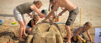 Concours de châteaux de sable en famille - Maison Pariès Hendaye