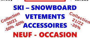 Déstockage Dépôt Vente ski snow vêtements bielle